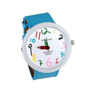 Modny kolorowy zegarek na rękę kredki stylowy (niebieski) - 2824376776