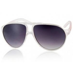5e8e37ce93c7 Modne okulary przeciwsłoneczne UV400 PC (kolor biały przezroczysty) -  2824376745