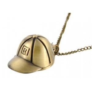 Zegarek naszyjnik retro brąz czapka stylowy modny