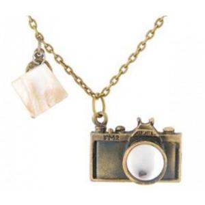 Antyczny modny naszyjnik aparat fotograficzny (brąz) - 2824376311