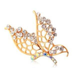Stylowa i modna broszka z kryształkami STELLUX motyl - 2824377403