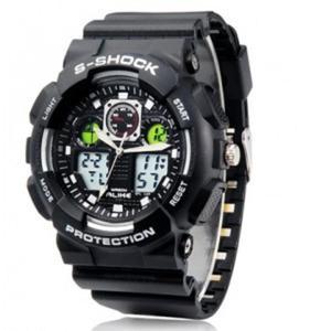 ALIKE AL35 Sportowy zegarek materiał TPU (czarno biały) - 2824376308