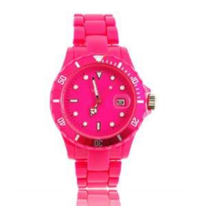 Modny sportowy zegarek data damski kolorowy bransoleta - 2824376792