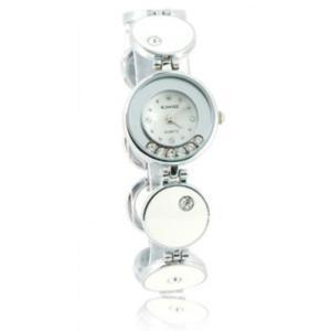 KIMIO Zegarek damski kryształki bransoleta srebrna elegancja casual styl - 2824376652
