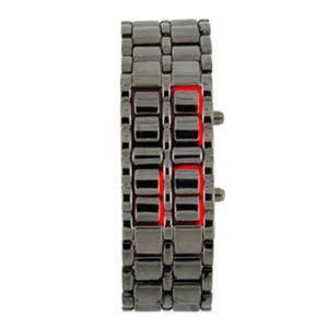 Modny Japan Style zegarek na rękę LED z bransoletą - 2824376770