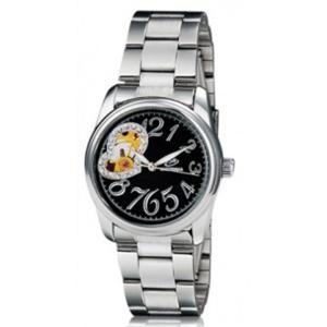 Zegarek damski automat mechaniczny bransoleta kryształki (czarno srebrny) - 2824377687