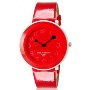 Kolorowy modny zegarek damski analogowy na lato (czerwony) - 2824376667