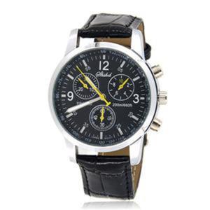 Elegancki kwarcowy męski zegarek na rękę na pasku - 2824376606