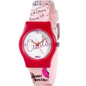 Niepowtarzalny kolorowy zegarek dla dziewczyn (czerwony) - 2824376931
