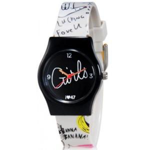 Niepowtarzalny kolorowy zegarek dla dziewczyn (czarny) - 2824376930