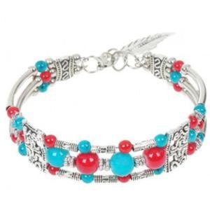 Orientalna modna bransoletka czerwony Agat - 2824377118