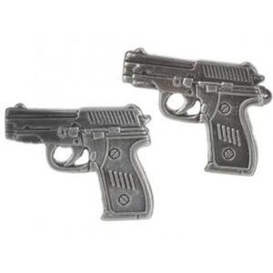 Modne spinki do mankietów koszuli w kształcie pistoletów - 2824376751
