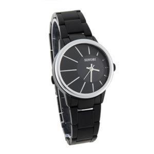 Modny kwarcowy zegarek na rękę z bransoletą - 2824376780