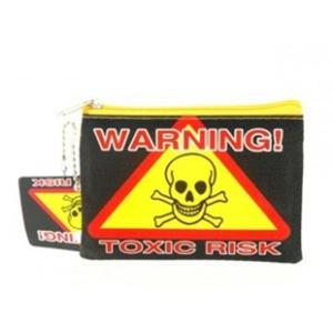 Atrakcyjna portmonetka portfel na monety Uwaga! Ryzyko zakażenia - 2824376316