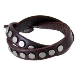 Bransoletka skórzana na rękę modna dla mężczyzn i kobiet (brązowa) - 2824376424