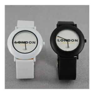 Zestaw dwóch zegarków kwarcowych dla niej i dla niego LONDYN (biały i czarny) - 2824377897