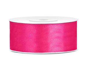 Tasiemka satynowa, c. różowy, 25mm/25m, 1szt. - 2843108212