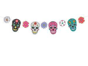 Girlanda Dia de Los Muertos - Maski, 1,2m (1 karton / 40 szt.) - 2889697699