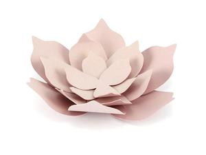 Dekoracje papierowe Kwiaty, pudrowy róż (1 karton / 40 op.) (1 op. / 3 szt.) - 2889698778