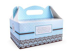 Ozdobne pudełka na ciasto komunijne (1 karton / 20 op.) (1 op. / 10 szt.) - 2889699423