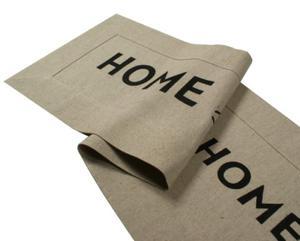 Bieżnik HOME SWEET HOME z czarnym napisem - 2857885877