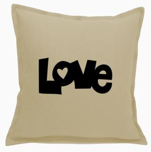Poszewka beżowa LOVE 3 warianty - 2863827610