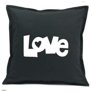 Poszewka grafitowa LOVE 2 warianty - 2863827613