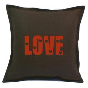 Poszewka brązowa LOVE 2 kolory - 2863827619