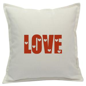 Poszewka biała LOVE 2 kolory - 2863827620