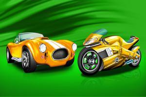 Fototapeta dla dzieci autko, motor 50a - 2837153330