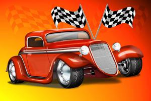 Fototapeta dla dzieci autko wyścigowe 52a - 2837153332