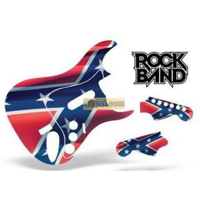 Guitar Skin Rock Band Stratocaster: Rebel Flag PS3 - 2832576473