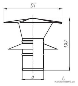 Spiroflex Wywiewka dwuścienna nierdzewna 2, element kominów dwuściennych kwasoodpornych, fi...