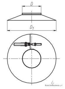 Spiroflex Osłona, element kominów dwuściennych kwasoodpornych, fi 60/100 [SX-TD60/100OS] - 2822205531