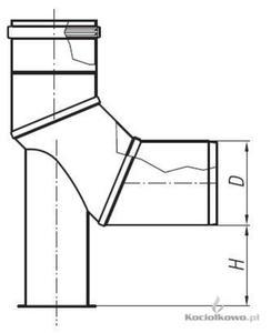 Spiroflex Kolano 90 stop. z podstawką, element kominów jednościennych kwasoodpornych, D = 80 mm [SX- - 2822206383