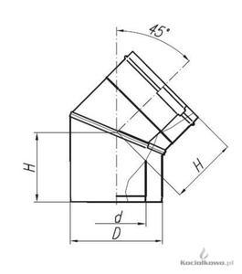 Spiroflex Kolano dwuścienne 45 stop. białe, element kominów dwuściennych kwasoodpornych, fi 80/125 [ - 2822206588