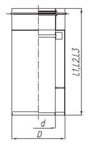 Spiroflex Rura dwuścienna nierdzewna 60/100, 0,5mb - 2822206613