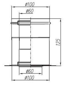 Spiroflex Adapter adapter 60/100 z odskraplaczem JK [SX-TD-AJCOB] - 2822206896