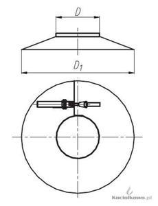 Spiroflex Osłona, element kominów jednościennych kwasoodpornych, D = 80 mm [SX-TJ80OS] - 2822205011