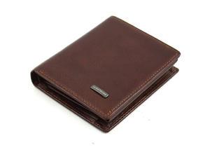 Mały jasno brÄ zowy skĂłrzany portfel Albatross - 2848499450