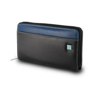 5249db127ca09 SkĂłrzany portfel damski saszetka DuDuÂŽ, 534-276 czarny z kolorowym  Ĺ›rodkiem -