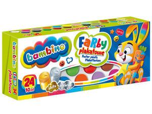 24 farby plakatowe Bambino 24 x 10ml - 2848499829
