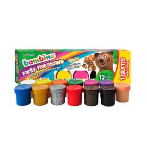 12+1 farby plakatowe Bambino 13 x 20ml - 2848500055