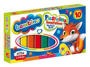 Plastelina kwadratowa Bambino 10 kolorĂłw - 2848500331