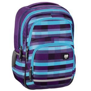 "Ergonomiczny plecak szkolny HAMA, All Out ""Blaby"", Summer Check Purple"