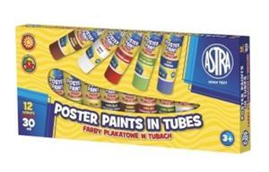 Farby plakatowe w tubach Astra 12 x 30ml - 2852583146