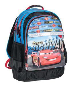 Dwukomorowy plecak szkolny Auta-Cars, Paso - 2852713786