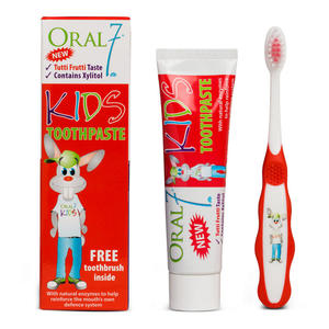 ORAL7 Kids Toothpaste 50ml - pasta do zębów od 6 roku życia (tutti-frutti) + szczoteczka do mycia zębów - 2854124027