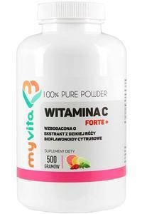 MyVita Witamina C FORTE+ proszek 500g - witamina C + bioflawonoidy + dzika róża - 2876864850