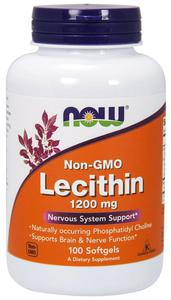 NOW FOODS Lecithin Non-GMO 1200mg, 100sgels. - lecytyna sojowa - 2865846159